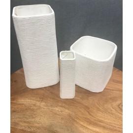 Vase Faddy blanc
