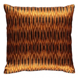 Coussin IKAT Long Tribal Ocre