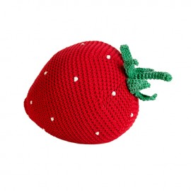 Fraise crochet en coton -- Anne-Claire Petit