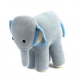 Mama Elephant blue grey- crochet - Anne-Claire Petit