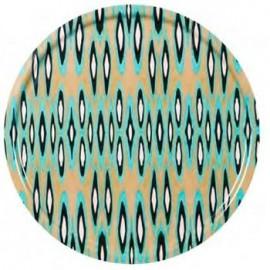Plateau pour table IKAT Turquoise