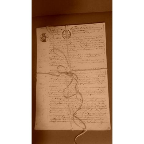 Liasse de papier notaire