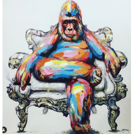 "Peinture ""Gorilla"" 100x100"