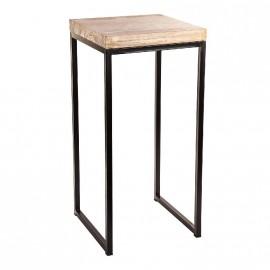 Table d'appoint en bois pétirifié