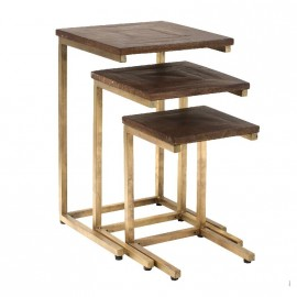 Table MOZE carrée en bois manguier