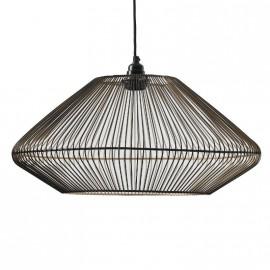 Lampe plafond or et noire