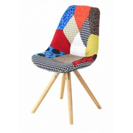 Chaise multicolore Patchwork