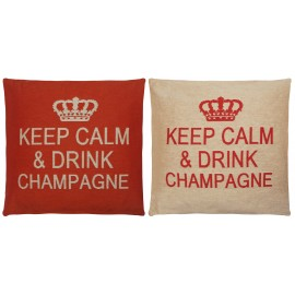 "Coussins ""Keep Calm & Drink Champagne"""