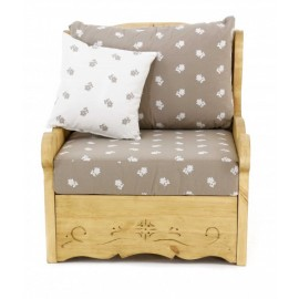 Fauteuil Dahu Edelwaiss taupe