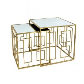 TABLES X2 ART DECO GOLD