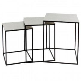 SET DE 3 TABLES D4APPOINTS METAL EPOXY/ALU