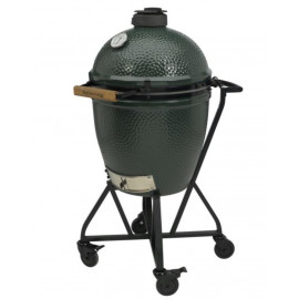 PACK BIG GREEN EGG START SMALL SUR CHARIOT ROULETTES